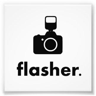 自動点滅装置のカメラマンのカメラ フォトプリント