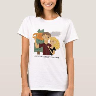 自動記録器はよりよい恋人を作ります Tシャツ