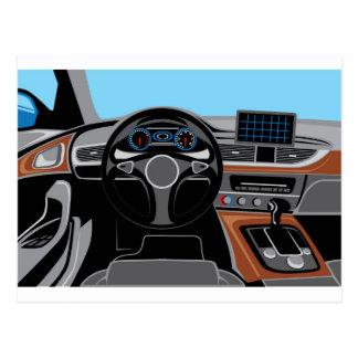 自動車インテリア ポストカード