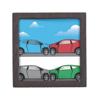 自動車事故のベクトル ギフトボックス
