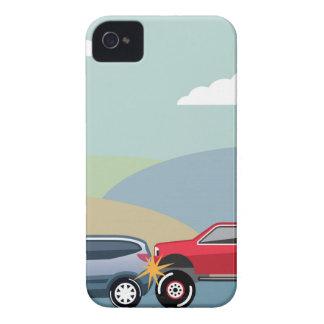 自動車事故の後部は車のベクトルを終えました Case-Mate iPhone 4 ケース