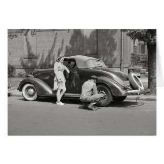 自動車修理Service 1942年 カード