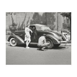 自動車修理Service 1942年 キャンバスプリント
