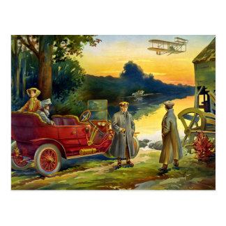 自動車1910年の最初の頃 ポストカード