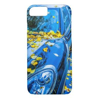 自動車、落ちたな葉の車季節 iPhone 8/7ケース