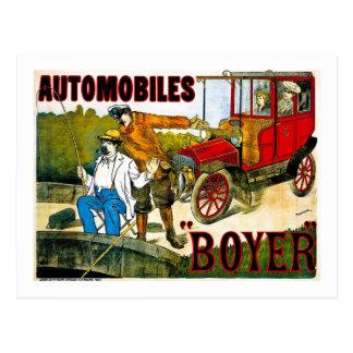 自動車Boyer -ヴィンテージ ポストカード
