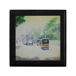 自動-インドのタクシー スクエアギフトボックス小