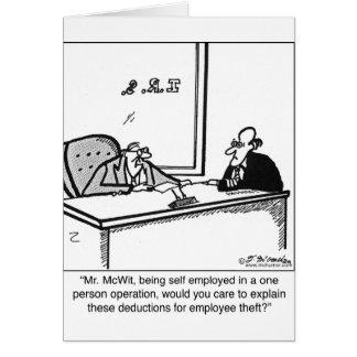 自営業及び従業員の盗難 カード