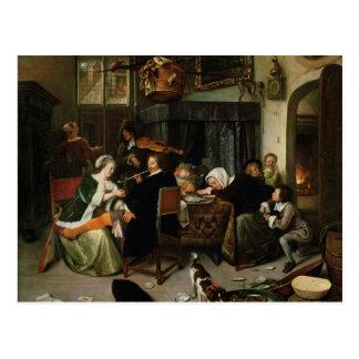 自堕落な世帯1668年 ポストカード