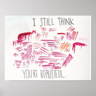 自己の害の認識度および受諾ポスター ポスター
