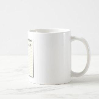 自己の紙および鉛筆へのノート コーヒーマグカップ