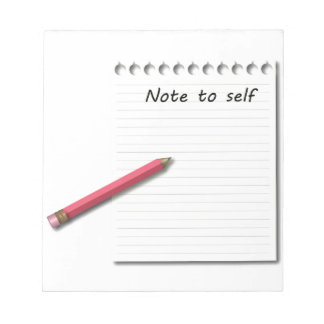 自己の紙および鉛筆へのノート ノートパッド