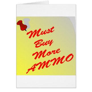 自己へのノートはより多くの弾薬を買わなければなりません カード