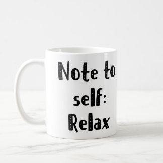 自己へのノートはマグをリラックスします コーヒーマグカップ