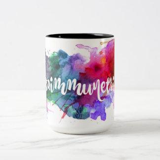 自己免疫の種族のしぶきのマグ ツートーンマグカップ