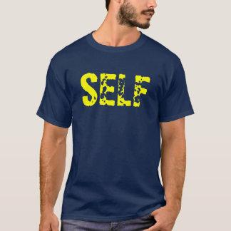 自己壊されたロゴ Tシャツ