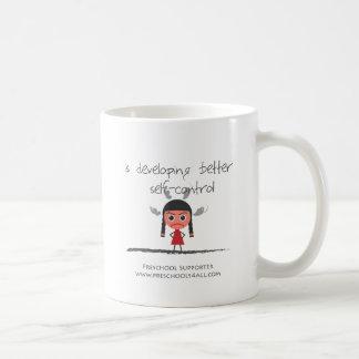 自己contorol女の子 コーヒーマグカップ