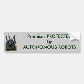 自律ロボットによって保護される バンパーステッカー