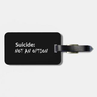 自殺ない選択 ラゲッジタグ