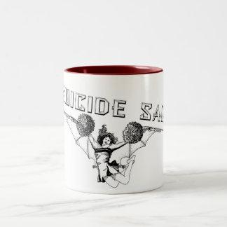 自殺のチアリーダーのマグ ツートーンマグカップ