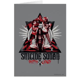 自殺の分隊 のかわいらしく熱狂するな分隊の女の子 カード