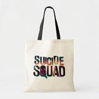 自殺の分隊|のカラフルな白熱ロゴ トートバッグ