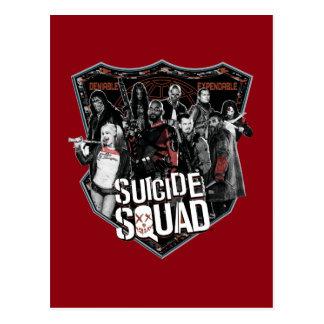 自殺の分隊|のグループのバッジの写真 ポストカード