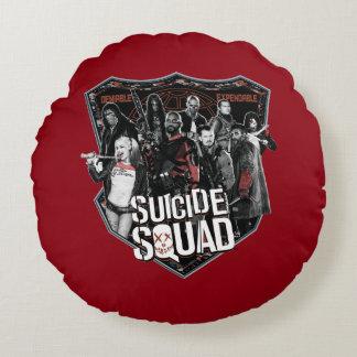 自殺の分隊|のグループのバッジの写真 ラウンドクッション