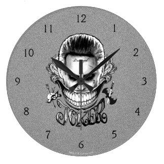 自殺の分隊|のジョーカーのスマイル ラージ壁時計