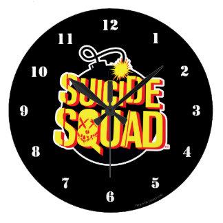 自殺の分隊|の爆弾のロゴ ラージ壁時計