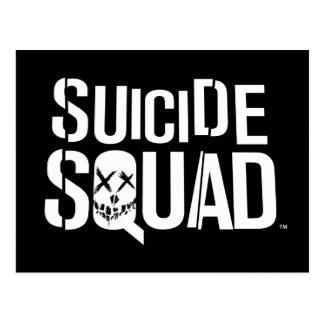 自殺の分隊|の白いロゴ ポストカード