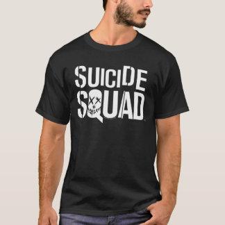 自殺の分隊|の白いロゴ Tシャツ