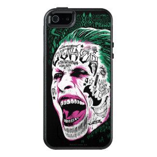 自殺の分隊|の笑うジョーカーの頭部のスケッチ オッターボックスiPhone 5/5s/SEケース