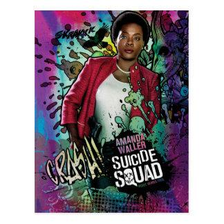 自殺の分隊|アマンダWallerのキャラクターの落書き ポストカード