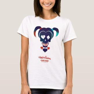 自殺の分隊|ハーレークウィンのヘッドアイコン Tシャツ