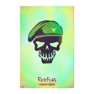 自殺の分隊|リックの旗の頭部アイコン キャンバスプリント