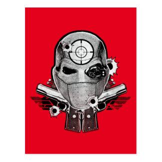 自殺の分隊| Deadshotのマスク及び銃の入れ墨の芸術 ポストカード