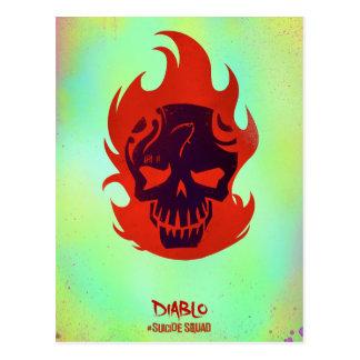 自殺の分隊| Diabloのヘッドアイコン ポストカード