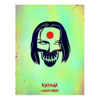 自殺の分隊| Katanaのヘッドアイコン ポストカード