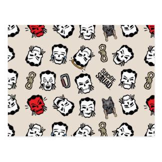 自殺の分隊| Slipknot Emojiパターン ポストカード