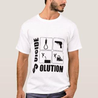 自殺の解決 Tシャツ