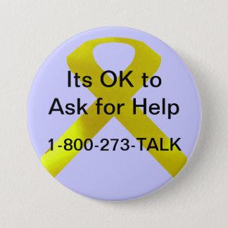 自殺の認識度の助けボタン 7.6CM 丸型バッジ