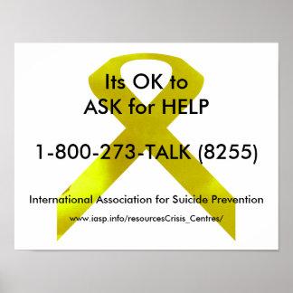 自殺の認識度の助けポスター ポスター