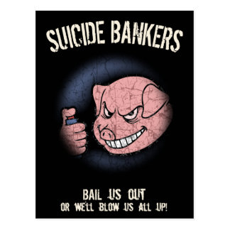 自殺の銀行家 ポストカード