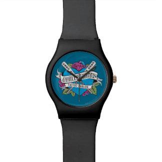 自殺分隊|ハーレークウィンの入れ墨パーラーのハート 腕時計