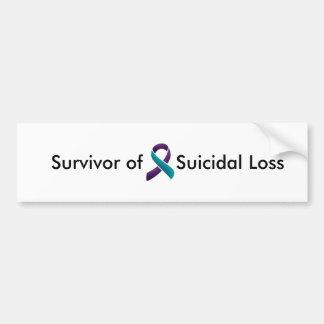 自殺損失の生存者 バンパーステッカー