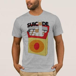 「自殺」の禁煙のワイシャツ Tシャツ