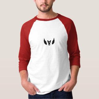 自殺ÅCESの落ちたな赤3/4の袖 Tシャツ