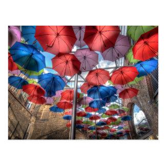 自治区の市場の傘の芸術、ロンドン ポストカード