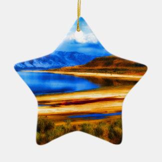 自然および美しいの    グレート・ソルト湖ユタのlandscap セラミックオーナメント